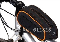 Bicycle bicycle frame Pannier front tube bag, Mountain bike cycling handlebar bag with Waterproof cover