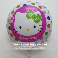 New styles !!! 18 inch round shape Hello kitty balloons , Helium balloon ,  Party decoration , 45x45cm