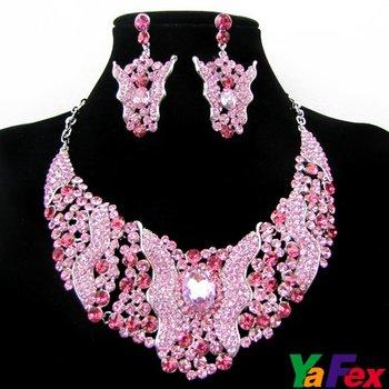 Free Shipping 1set/lot Wedding Bridal Bridesmaid Crystal Rhinestone Earrings Necklaces Jewelry Set WA40-4#