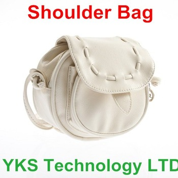 fashionable  Mini Lovely PU Leather Beige Adjustable Shoulder Bag  for girl