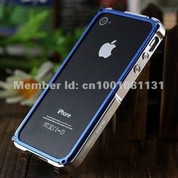 Blade T.D. Aluminum Bumper Frame Case Cover For iPhone 4G 4s, For iphone 4s Blade Bumper, Free Shipping(China (Mainland))