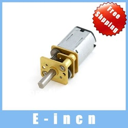 3PCS DC 1.5-12V 3v 6v 9v 200rpm Geared Motor Micro Metal Geared Electric Motor.free shipping(China (Mainland))