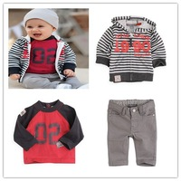 3sets/lot Girls Set Jeans Set T Shirt +Coat+Jeans Baby Clothes Set 90-110CM 20121106A-A22