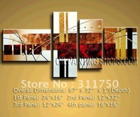 hand-painted Free Shipping Astonishing Abstract Oil Painting Large Canvas Art Modern Wall Art 4pcs/set