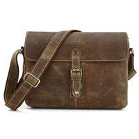 Free Shipping High Quality Vintage Brown Crazy Horse Leather JMD Men's Messenger Bag Cross Body Shoulder Bag  #7084B