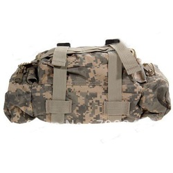 Durable Outdoor Nylon Compression Travelling Camera Bag - Army Grey(China (Mainland))
