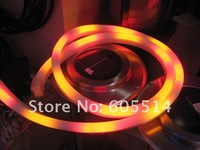 [Seven Neon]Free DHL express shipping 50meters 220V flexible four colors led neon light,waterproof led rope light