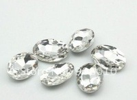 13x18mm oval glass rhinestone CRYSTAL AB COLOR, oval shape pointback rhinestones free shipping