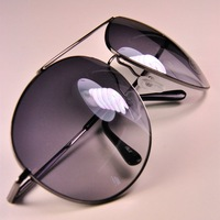 Free Shipping Classic cat-eye sunglasses male Women pilot large sunglasses glasses