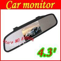 "Hot selling 4.3"" reversing digital TFT-LCD car back up mirror,free shipping"