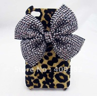 New Hot Fashion Bling Bling Shiny Cute 3D Peacock Phoenix Rhinestones Leopard Hard Back Case Cover for Apple iPhone 5