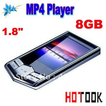 Dropship 8GB 1.8&quot; TFT Screen slim Diamond black MP4 MP3 music Player with Radio FM Christmas Gift Supernova Sale(China (Mainland))