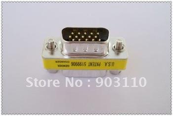 15 Pin VGA SVGA Adapter Monitor Gender Changer HD15 M/M mp3 usb