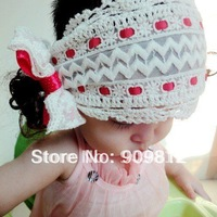 Free Shipping  Ballet crush headband, Children's hair bands, Butterfly bow hair clip, Pure hand- crocheted 20pcs/lot