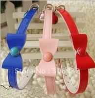 Y4 Free shipping Dog tie ornaments Dog bow/tie/ Dog Collar&Leash