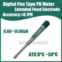 Free Shipping Digital Pen Type Pocket Digital PH Meter Tester Acidimeter Extended Electrode Accuracy:0.1pH Resolution:0.01pH ATC