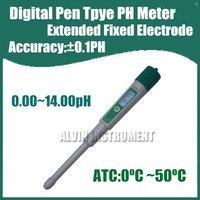 Free Shipping Digital Pen Type Pocket Digital PH Meter Tester Acidimeter Extended Electrode Accuracy:0.1pH Resolution:0.01pH ATC