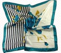 Free shipping! fashion imitated silk scarves/ silk scarf shawl/blue flower print/dream style