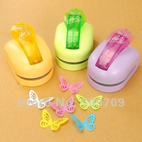 Free Shipping Extra Big Size Butterfly Craft Punch/Embossing Machine, Kids Children Punch Presser DIY Wholesale