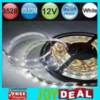 Free Shipping - 5M/500cm/16.4ft per LOT! DC12V 24W Non-Wateproof 3528SMD 60LED/M 300LEDs White Color Flexible LED Strip Light