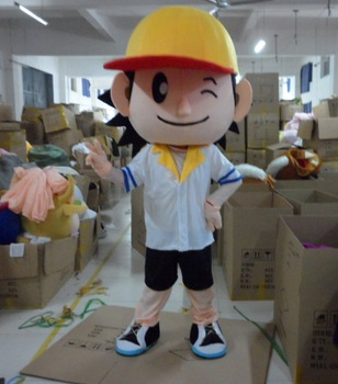 Wholesale FREE SHIPPING baseball boys  Plush Cartoon Character Costume mascot cosplay Custom Products customized