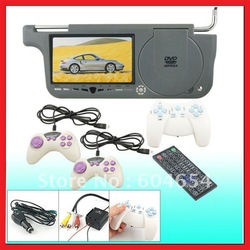 Free Shiping!!!7&quot; Car Sun Visor LCD Monitor DVD Player with 32 and 8 Bit Games, FM Transmitter and Built in Speakers(China (Mainland))
