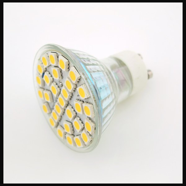 Free shipping 10pcs/lot 5W 500LM GU10 29 SMD 5050 LED Day/Warm White Spot Light Lamp Bulb 220V LED0017(China (Mainland))