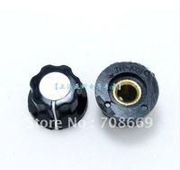20pcs Skirted Knob A01 For Standard Pots Black D 20mm H 12mm Hole Diameter 6mm
