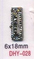 6*18MM square gun metal Resin stones,Rhinestones,Flatback shaped stones shoes accessories.gold 500pcs/lot Free shipping
