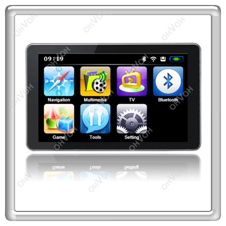 "S5Q 7"" LCD Touch Screen Sat Nav FM Car MP3 GPS Navigation Navigator Free Maps(China (Mainland))"