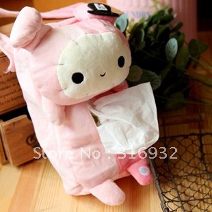 U4 Free shipping auto using tissue holder, san-x Sentimental Circus plush bunny  tissue box, car accessories