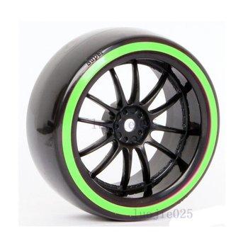 6031-5004 4PCS RC 1/10 1:10 Model Car On Road Drift Tyre Tires Wheel Rim & Hard