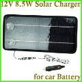 Portable Solar charger 12V 8.5W Solar Panel Car Boat Motorcycle Motor Vehicle Charger System 12V battery charger Free shipping