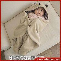 10 pcs / lot sale kids Multi-functional new baby fleece blankets cloaks baby romper babies clothing infants Quality 100% CD034
