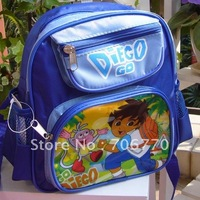 NEW Wholesale  Small Backpacks Blue Go Diego and Friends 3 zippers stylish for Children toddler BOYS