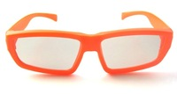 Free Shipping~~ 10Pieces/lot New Children's Lovely Orange Color Circular polarized 3D TV glasses