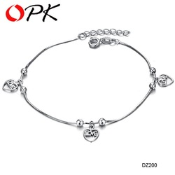 Free Shipping Fashion Jewelry 18K White Gold Plated Anklet Classic Anklet Wholesale Factory Price Top Quality jewellry 200(China (Mainland))