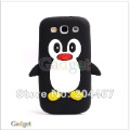 for Galaxy SIII Case, Cute Penguin Soft Silicone Cover  Phone Case for Samsung Galaxy S3 S iii i9300 DHL Free 200pcs/lot