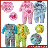 12 sets /lot wholesale kids baby colorful Rompers clothes climb Romper jumpsuit craze babies clothing infants Quality 100% CD036