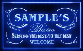 PT-TM B Name Personalized Custom Best Bistro Custom Neon Light Sign