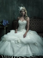 Wholesale - 2012 Sexy Strapless Sweetheart Applique Tulle Floor Length Robe Mariage Wedding Dresses Bridal Gowns