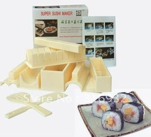 D3 5-in-1 sushi mold soshi maker set Sushi Master Rice Mold making set DIY Tools