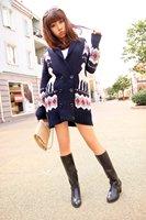 50%discount!!collar knitwear,weave sweater, women clothes, christmas women lovely deer long sweater (NXL011-5)