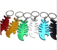 Fish Style Alloy Beer Bottle Opener Keychain Mixed Color (SX-127)