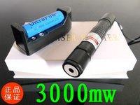New 3000mW Laser   Green laser pointer Flashlight / Burning laser torch BURN matches free ship  532nm