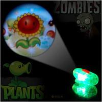 OK Multicolour luminous projection flashlight plants vs . zoombies 2 child gift toy