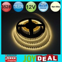Free Shipping - 5M/500cm/16.4ft per LOT! DC12V 48W Non-Wateproof 3528SMD 120LED/M 600LEDs Warm White Flexible LED Strip Light