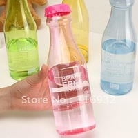 New!  leak-proof plastic portable soda bottle sealed glass sports water