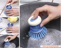 Plastic Automatic Add Clean Liquid Washing Tool / Dish Brush (KA-10)