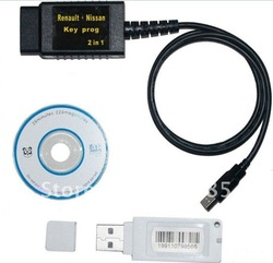2012 Newest version Renault And Nissan Key Prog 2 In 1 with free shipping(China (Mainland))